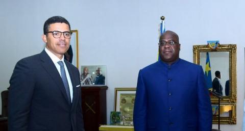 Sindika Dokolo et Félix Tshisekedi