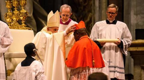 Pape François et Fridolin Ambongo